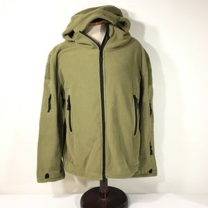 HAN WILD TACTICAL GREEN ZIP XL HOOD FLEECE JACKET